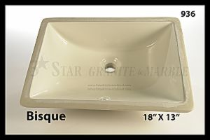 Bathroom Sinks Squared 00936 – Bisque